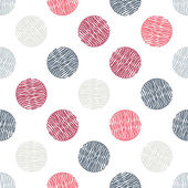 Seamless pattern. Polka dot texture in doodle style. Vector illustration — Stock Vector
