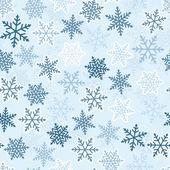 Winter seamless pattern, ornamental snowflakes. — Stock Vector