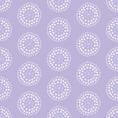 Seamless vector pattern with concentric circles made from spots — Stock Vector
