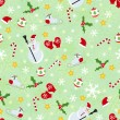 Seamless cute christmas pattern — Stock Vector
