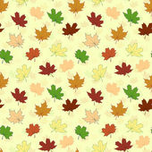 Seamless pattern with maple leaves — Stock Vector