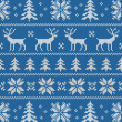 Seamless pattern with classical sweater design — Vetor de Stock  #33098403