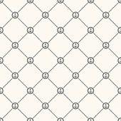 Vector seamless retro pattern — Stock Vector