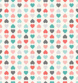Beautiful seamless vector pattern with hearts — Stock Vector
