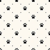 Seamless animal pattern of paw footprint — Stock Vector