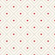Vector seamless retro pattern with hearts — Stock Vector