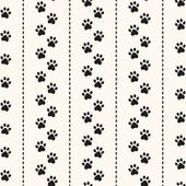 Seamless animal pattern of paw footprint — Stock Vector