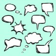 Stock Vector: Set of hand drawn vector comical speech bubbles