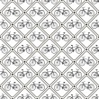 Vector seamless retro bicycle pattern. — Stock Vector