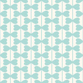 Geometric seamless pattern with hearts lines — ストックベクタ