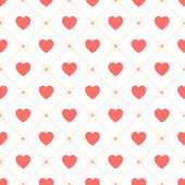 Vector seamless retro pattern with hearts — Stok Vektör