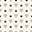 Vector seamless retro pattern, with diamonds. — Vector de stock