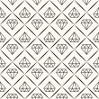 Vector seamless retro pattern, with diamonds. — Stock Vector