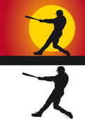 Silhouette of a baseball on a white background — Stock Photo