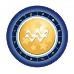 Zodiac sign of aquarius — Stock Photo