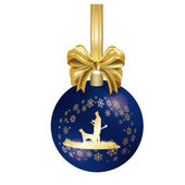 Hunting Christmas decoration — Stockfoto