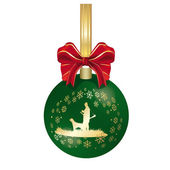 Hunting Christmas decoration — Stock Photo