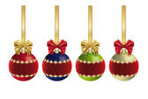 Christmas decoration with ribbon - Series — Stok fotoğraf