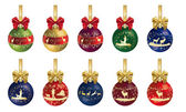 Hunting Christmas decoration with ribbon — Stock Photo