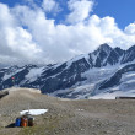 Mountains Austrian Alps Glacier Pasterze — Stock Photo #50247303