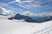 Mountains, glaciers and pastures Austrian Alps — Stock Photo