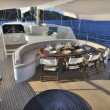 Deck of luxury sailboat — Stock Photo
