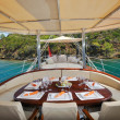 Deck of luxury sailboat — Stock Photo #34815969