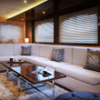 Lounge of luxury sailboat — Stock Photo