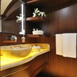 Bathroom of luxury sailboat — Stock Photo #34816361