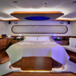 Bedroom of luxury yacht — Stock Photo #34816385