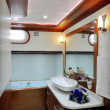 Stock Photo: Bathroom of luxury sailboat
