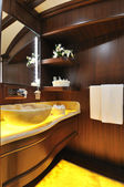 Bathroom of luxury sailboat — Stock Photo