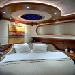 Stock Photo: Bedroom of luxury sailboat