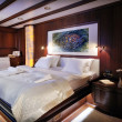 Bedroom of luxury sailboat — Stock Photo #34895127