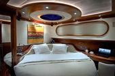 Bedroom of luxury sailboat — Stock Photo