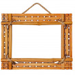 Bamboo photo frame isolated on white background — Stock Photo