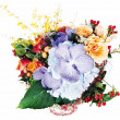 Colorful floral arrangement of roses, lilies, freesia, orchids a — Stock Photo #13721251