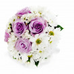 Colorful flower wedding bouquet for bride arrangement centerpiec — Stock Photo