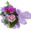 Stock Photo: Colorful flower wedding bouquet for bride from roses, iris and