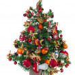 Christmas fir tree decorated with toys and Christmas decorations — Stockfoto