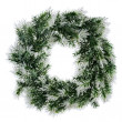 Royalty-Free Stock Photo: Wreath of fir branches isolated on white background