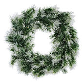 Wreath of fir branches isolated on white background — Stock Photo