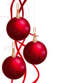 Weihnachtskugel mit bänder isoliert auf weißem hintergrund — Stockfoto