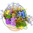 Stock Photo: Colorful floral bouquet of roses, cloves and orchids arrangement