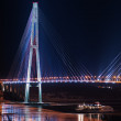 Night view of the longest cable-stayed bridge in the world in th — Stock Photo