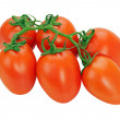 Royalty-Free Stock Photo: Tomatoes on the vine isolated on white background
