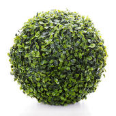 Sphere from green artificial grass isolated on white background — Stock Photo