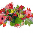 Colorful floral arrangement from lilies, cloves and orchids in c - Stock Photo