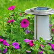 Solar powered garden lamp. — Stock Photo