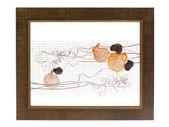 Moldura decorativa com composição abstrata de conchas, ston — Foto Stock